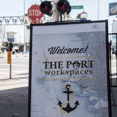The Port Workspace Jack London Sidewalk Sign