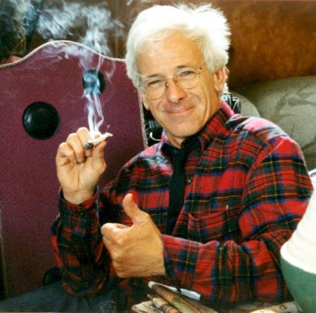 Dennis Peron Smoking & Smiling