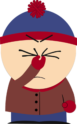 Stan from South Park with facepalm